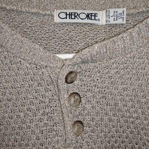 Men's Cherokee ribbed knit pullover Sweater Size L